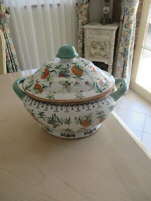 Antique centerpiece tureen lidded handle bowl vase jar dish jardinière casserole