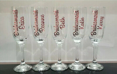 rose gold vinyl stickers x 10 any Names Words decals Wine Glasses,storage Decals