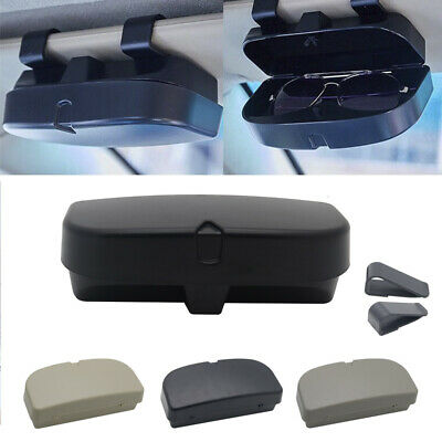 Universal Black Car Glasses Box Sunglasses Storage Holder Clip Case Organizer
