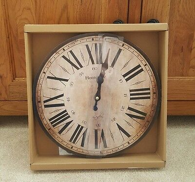 vintage cream and brown clock