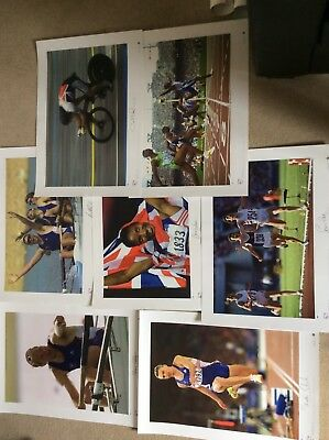 signed Team GB Olympic Gold Prints - complete set of 7