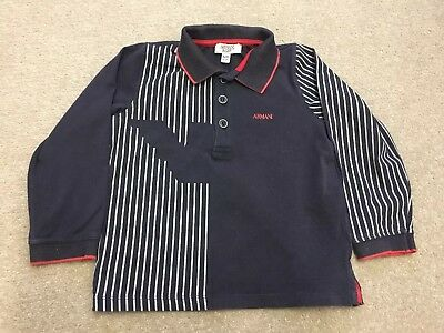 Armani Baby Boys Top Full Sleeve T Shirt Genuine 24 Month Excellent Condition.