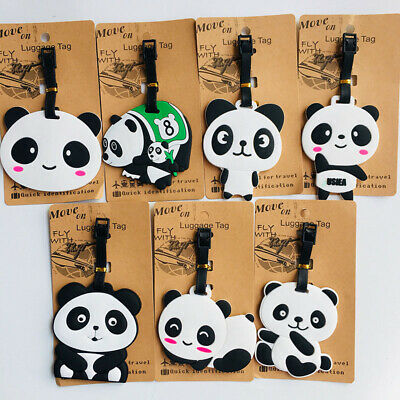 chinese panda pandas Travel Label ID Holder tags luggage tags Baggage Tag anime