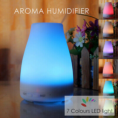 Air Diffuser Essential Oil Ultrasonic Humidifier Purifier Aroma Aromatherapy LED