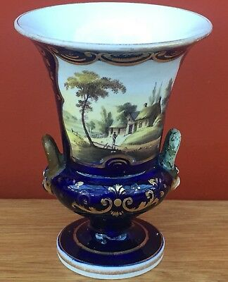 Early 19th Century Hand Painted Campana Vase Possibly Derby or Spode
