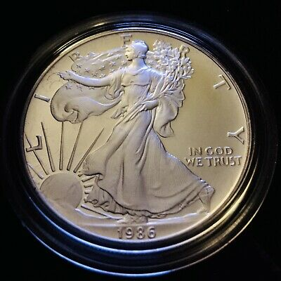 1986-S American Eagle, One Ounce Proof Silver Bullion Coin
