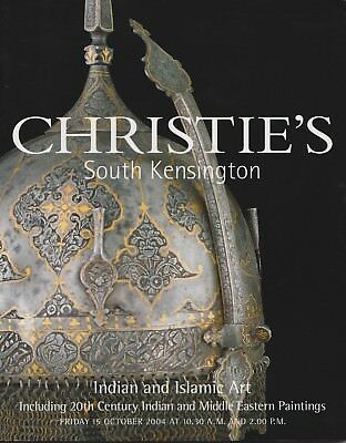 INDIAN & ISLAMIC WORKS OF ART 20th c  PAINTINGS ceramics brass AUCTION CATALOGUE