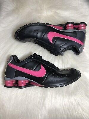 online store 4d7fd 9721a Nike Shox Classic Women s Size 8.5 Black Pink Grey Running Sneakers