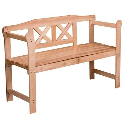 2 Seater Hardwood Garden Bench Outdoor Patio Wood Furniture**Free Delivery**