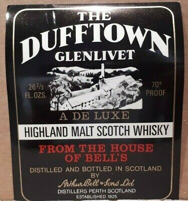 Rare BELL'S DUFFTOWN Scotch whiskey Label Scotch Whisky