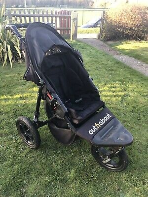 Out n About Nipper Single V4 Pushchairs Single Seat Stroller - Raven Black