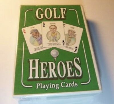 Rare Golf Heroes Playing Cards New Sealed Nice Wow!! Tiger Woods Jack Nicklaus !