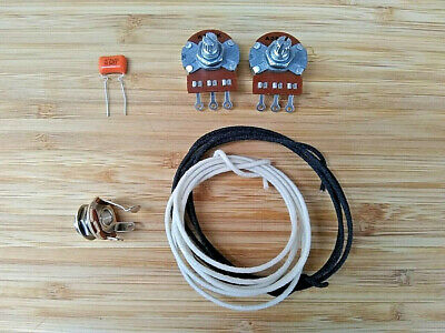 Wiring Kit,for Standard P Bass, Alpha A250K Pots, .047 capacitor