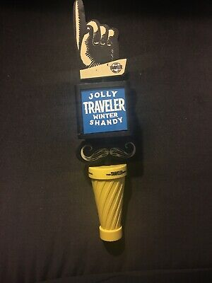 "Jolly Traveler Winer Shandy 11"" Craft Beer Tap Handle The Traveler Beer Co."
