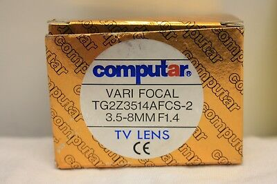 Computar Varifocal Tg2Z3514Afcs-2 3.5-8 Mm F1.4 Tv Lens Auto Iris Video Drive