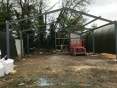 Steel frame building 30x30x12