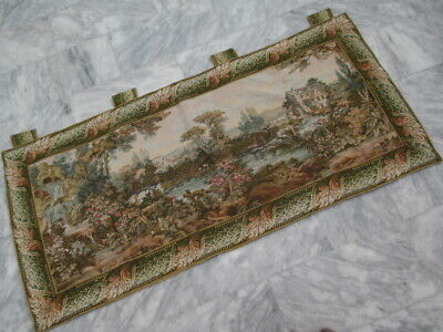 4986 - Old French / Belgium Tapestry Wall Hanging - 187 x 85 cm