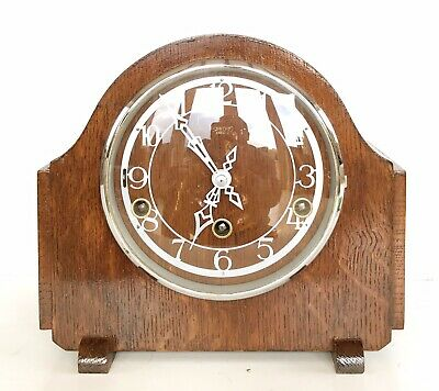 Art Deco Smiths Enfield London Quarter Chiming Mantle Clock