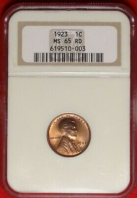 1923 1C Ngc Ms65 Rd Superb Gem Uncirculated Red Philadelphia Mint Lincoln Cent