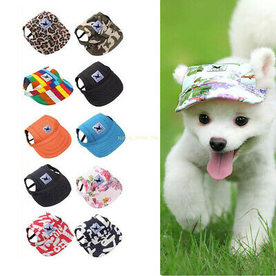 Pet Dog Hat Baseball Cap Sports Windproof Travel Sun Hats for Puppy Large Dogs E
