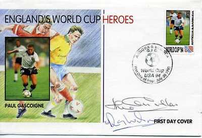 Football World Cup Heroes 1993 Cover SIGNED RAY WILSON and JACK CHARLTON