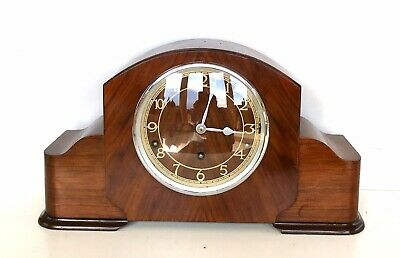 Garrard Walnut Quarter Chiming Mantle Clock Superb