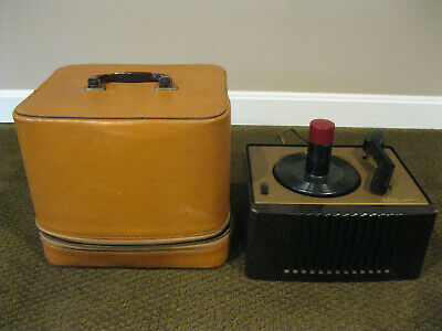 RARE VINTAGE RCA Victor Record Player Model # 45-EY-2 With Carry Case