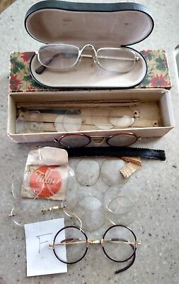"Eyeglasses Vintage Mixed Lot Glasses Parts & Pieces. Frames / Lenses. ""F"""