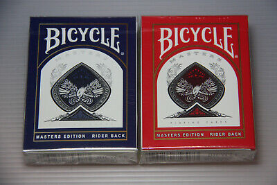 2 decks BICYCLE Masters Edition Rider Back Playing Cards OHIO made UV500