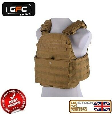 Military Tactical 6094 Molle Plate Carrier Assault Vest Coyote Gft-18-018836