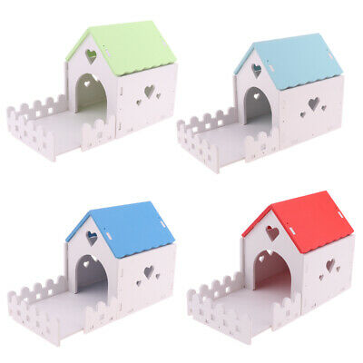 Hamster Hideout House Wooden Living Hut Exercise Nest Toy for Chinchilla