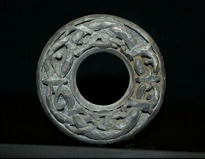 Ancient Viking Hammered Silver Bead Amulet depicting Norse Knot, c 950-1000 Ad