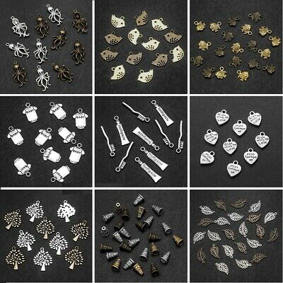 Tibetan Silver Metal Charms Loose Spacer Beads Wholesale Jewelry Making Pendants