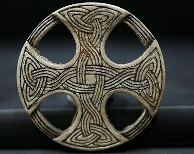Ancient Viking Silver Cross Amulet. Openwork Norse Knot Pendant, c 950-1000 Ad