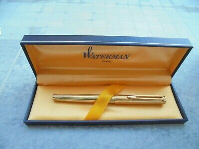 Fountain Pen (Estilografica) Waterman Modelo Ideal Le Man  Gordon Gold Striped