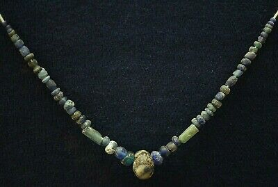 Ancient Viking Necklace String. Norse Ancient Glass Bead Amulets, c 950-1000 Ad.