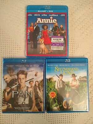 Lot of 3 Family Movies on Blu-Ray: Annie, Pan,  and Secondhand Lions