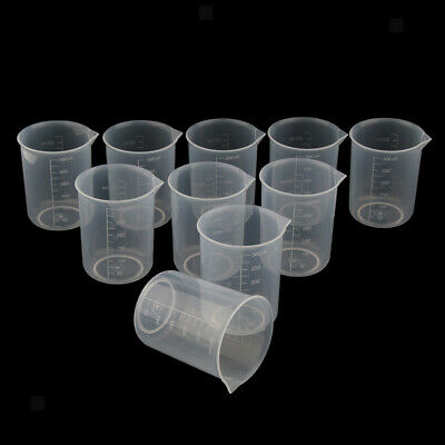 10pc Plastic Clear Graduated Liquid Rice Measuring Cup 250ml Kitchen Tool