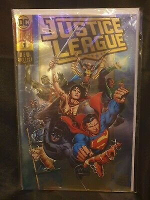 DC **JUSTICE LEAGUE #1 BOUTIQUE GOLD FOIL CONVENTION VARIANT** Superman Batman