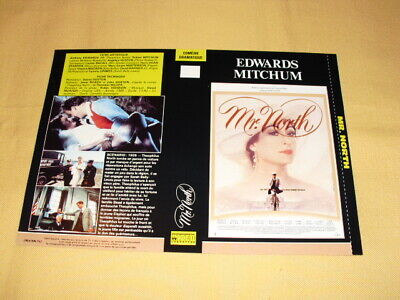 "JAQUETTE VHS ""Mr. North""  Anthony Edwards Robert Mitchum Lauren Bacall"