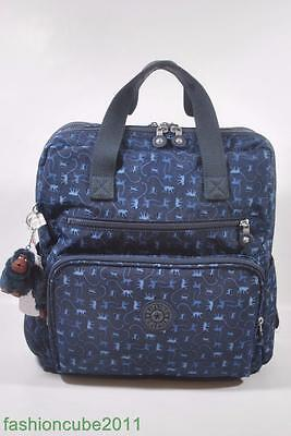9683e21085bc New KIPLING Audrie Diaper Bag Backpack with Changing Pad - Monkey Mania Blue