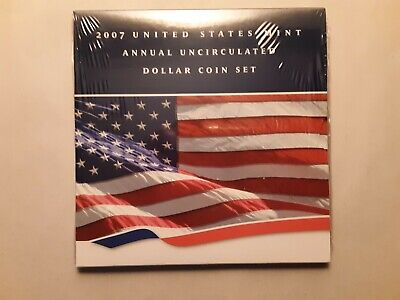 2007 U.S. Mint Annual Uncirculated Dollar Coin Set, Unopened