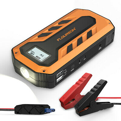 12000mAh Car Jump Starter Rescue Pack Booster Battery Charger Power Bank 600A