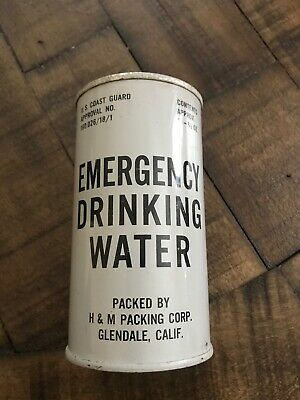"Vintage Us Coast Guard ""Emergency Drinking Water"" Sealed Full"