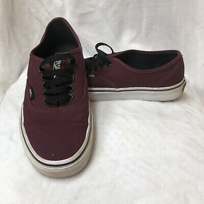 7bc7ccd605 WOMENS BLACK VANS OFF THE WALL Skate Shoes Lace Up Size 8.5 BRAND ...