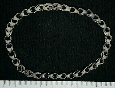Ancient Viking Silver Bracelet. Stunning Norse Chain Loop Bangle, c 950-1000 Ad.