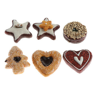 Artificial Cookies Set Dessert For Decoration Lifelike Food Toy for Display