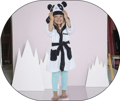 NEW - Girls, Boys, Kids Unisex Panda Robe dressing gown Age 18/24 Months bnwt