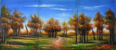 "16""x36""  Original Oil Painting:  3ART~PATH &TREES"