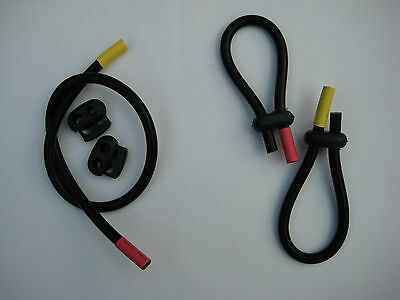 2 Conductive rubber loop electrodes Tens Estim - for 2mm or 4mm, (6.5mm Tube)